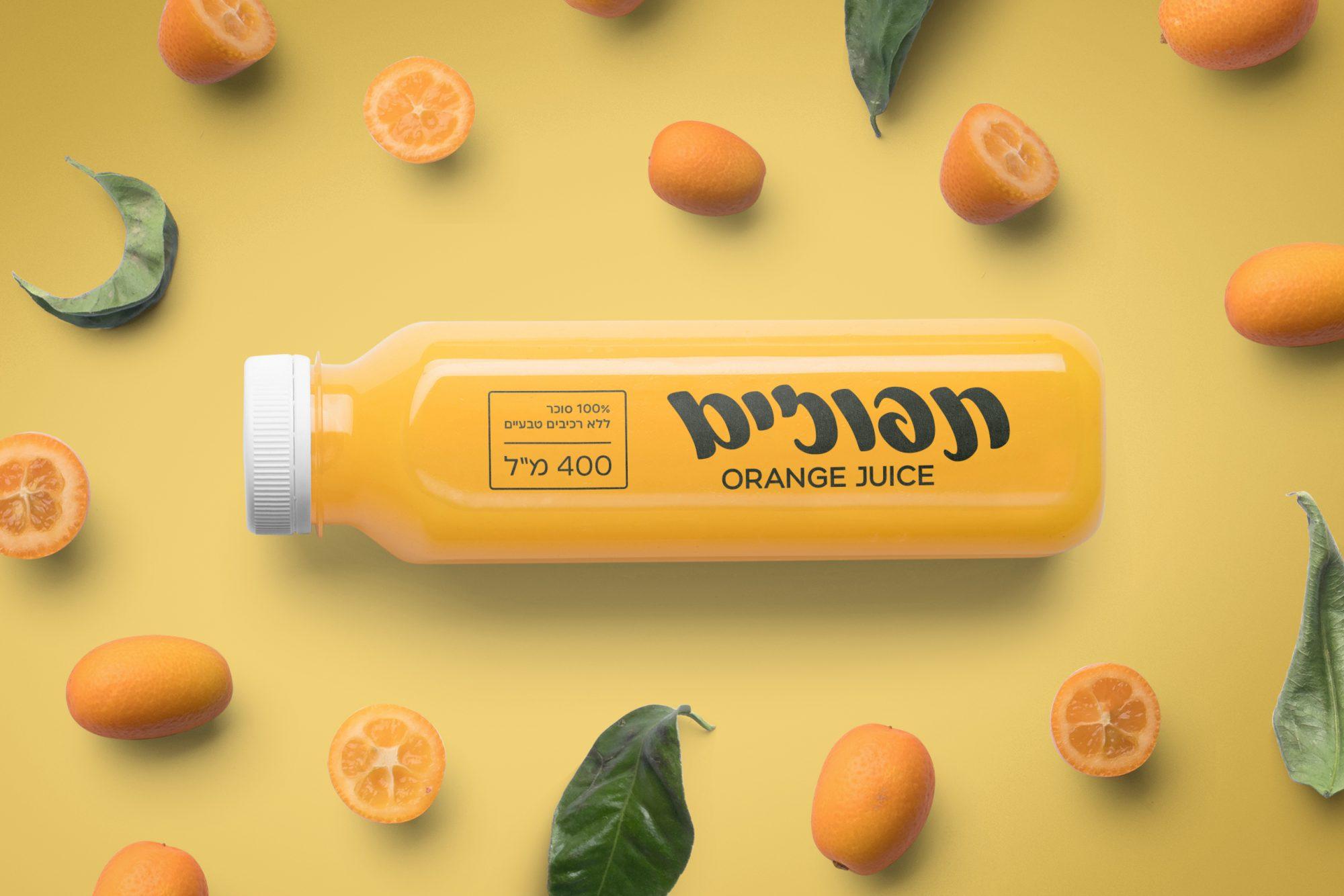 משקה תפוזים עם פונט מלוטש ומונופול - 2